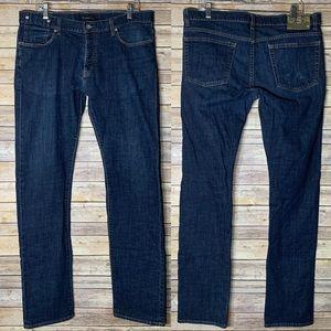 JOHN VARVATOS Straight Med Wash Jeans
